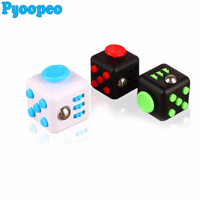 Squeeze Fun Stress Reliever Gifts Fidget Cube Relieves Anxiety and Stress Juguet For Adults Children Fidget cube Desk Spin Toys
