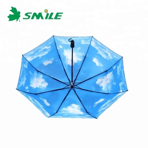 Blue Grey Square Lace Wooden Small Parasol Big Pink Umbrella