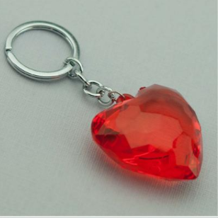 Wholesale custom 2019 Christmas gifts crystal  keychain pink crystal heart keychain
