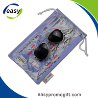 custom soft digital photo printing microfiber eyeglass bag