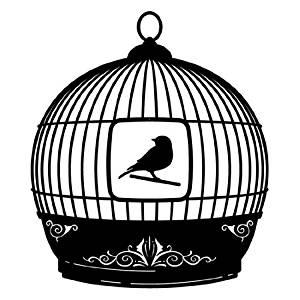 Bird Cage Modern Mobile in Black