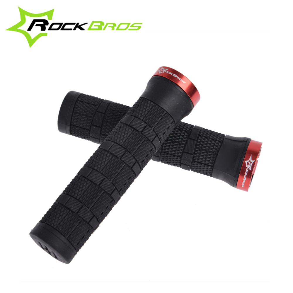ROCKBROS Wholesale Durable Anti-slip Soft Rubber Lock-on Cycling Bike Bicycle Handle Bar Grips