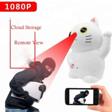 1080 p Indoor Cloud Storage 2 Weg Audio Batterij Aangedreven TF Card Opname Onzichtbare IR Leds Wifi IP Camera Voor home Security