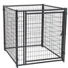 Ourable and auti-rust galvanized comfortable low price high quality large dog kennels/pet houses