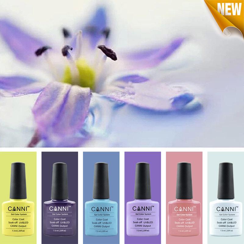 6PCS SET Free Shipping UV Nail Gel Polish UV LED 207 Colors 7 3ml Long Lasting