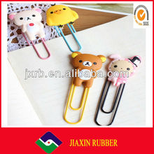 2014 Newest promotional antique fancy silicone bookmark for gift