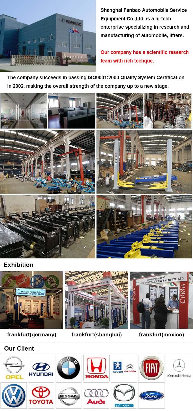 In der Bodeninstallation Platzsparender Hebebühnenlift mit CE-Zertifizierung Shanghai Fanyi QJY-S5