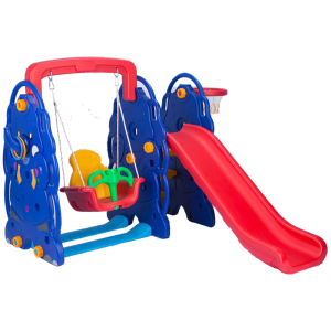 Games Plastic Kids Toys Indoor Slide with Swing