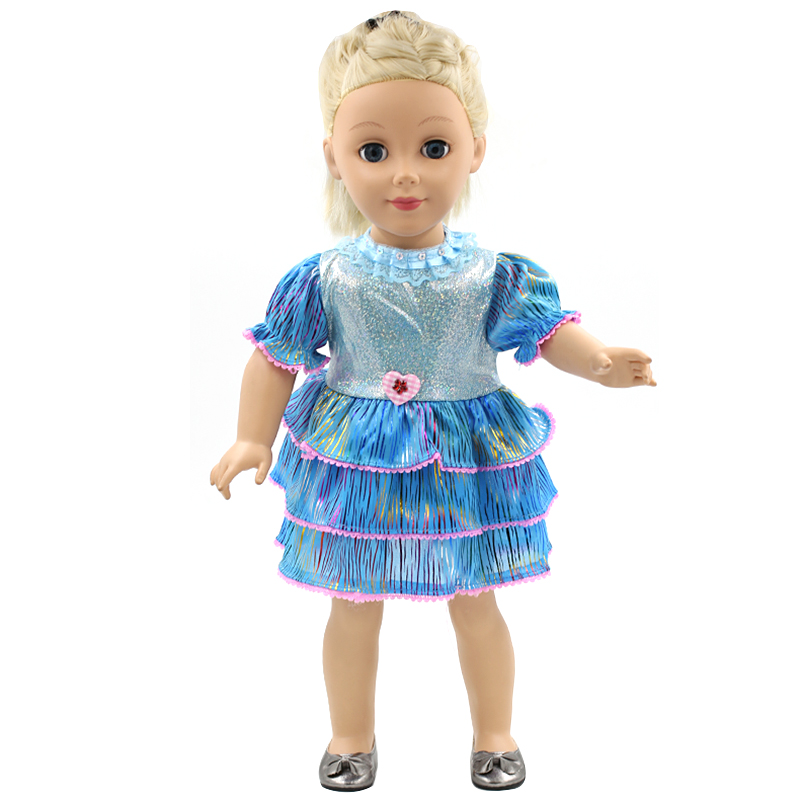 Aamerican Girl Doll Clothes Blue Dress Cute Baby Girl Gift ...