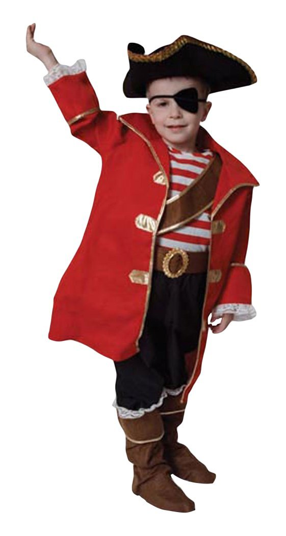 Deluxe Pirate Captain Children's Costume Set Size: Toddler 4