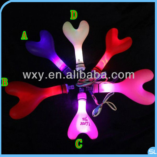 New Heart Shape LED Light Latex Balloon Flashing balloon Party Decoration Valentine's day Gifts