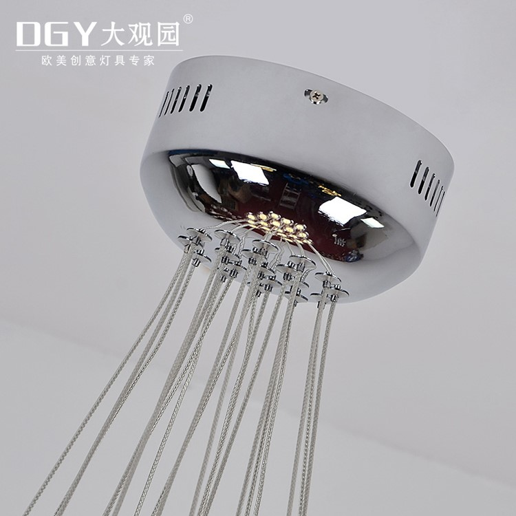 19 luci bolla di perline di illuminazione a sospensione lampada a sospensione per il ristorante di vetro trasparente scala lampadario