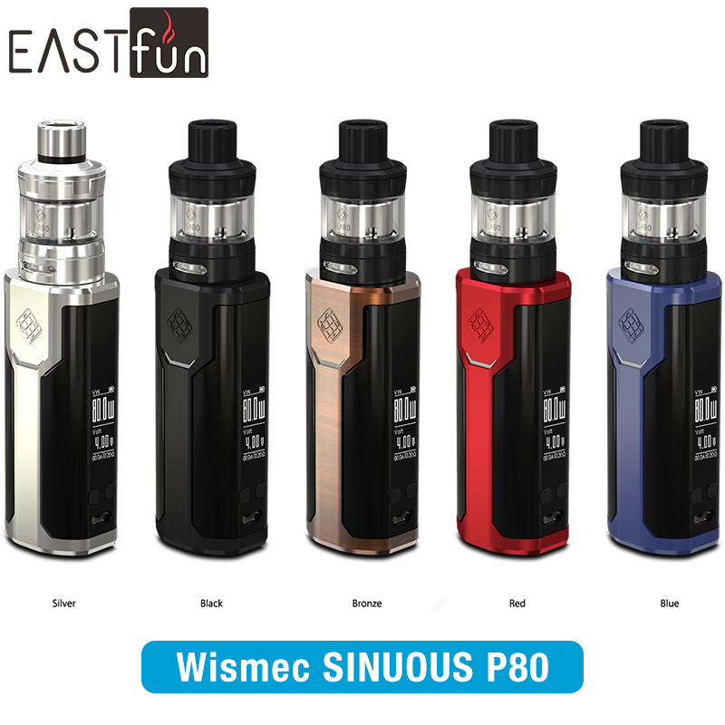 2017 NEW ARRIVAL!!! 80W Wismec SINUOUS P80 with ELABO Mini Kit,0.96 inch Screen,More Convinent from Eastfun