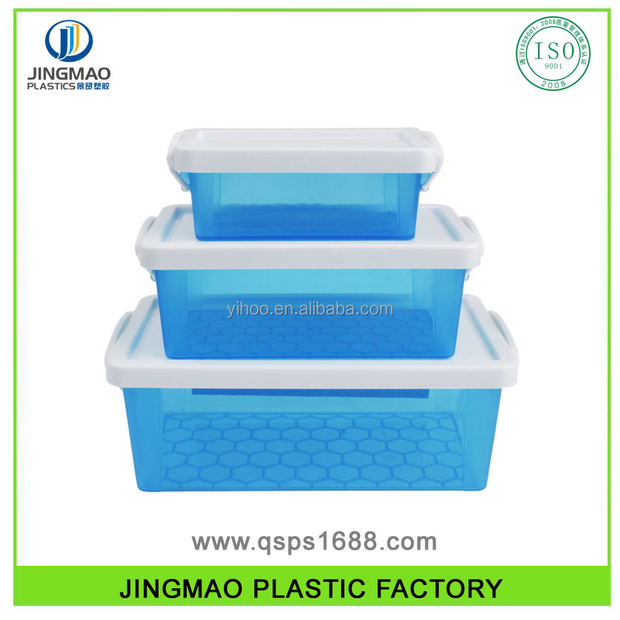 Promotional Retangular Storage Plastic Box With Lid With Lock