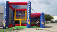 Inflatable Football Challenge Kick & Throw - Field Goal and Quarterback