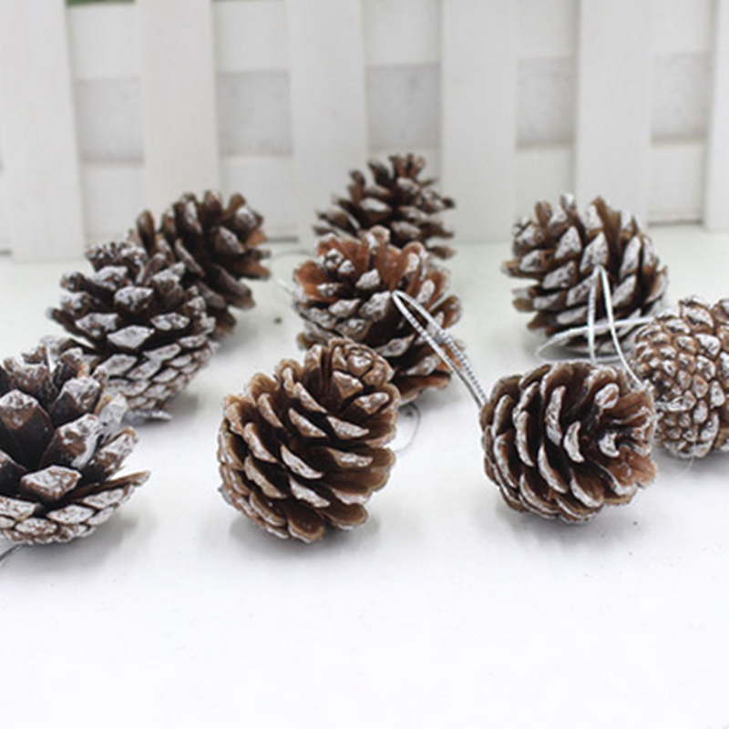 Natural Wood Pine Cone Christmas Tree ornaments