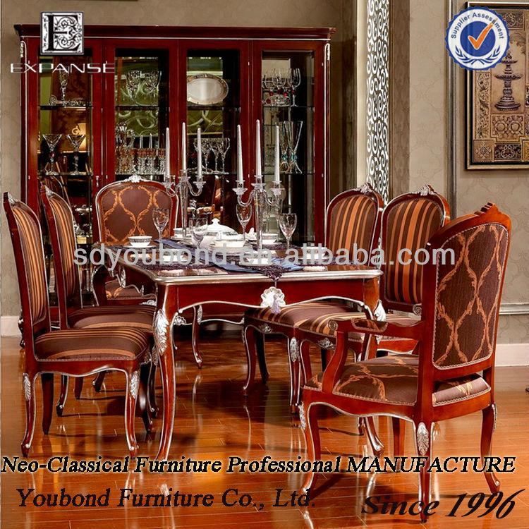 2015 yb06 en bois de luxe salle manger ensemble table de for Salle a manger de luxe