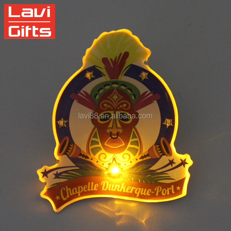 Funny Custom Light Led Flashing Plastic Lapel Pins For Sale