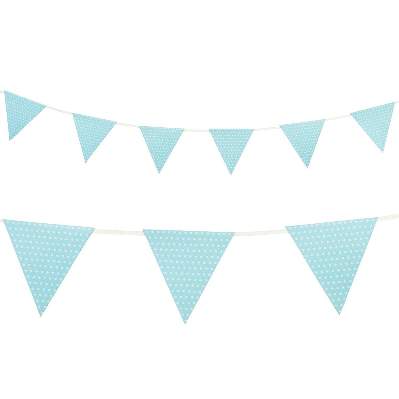 Light Blue Polka Dot Flag Banner