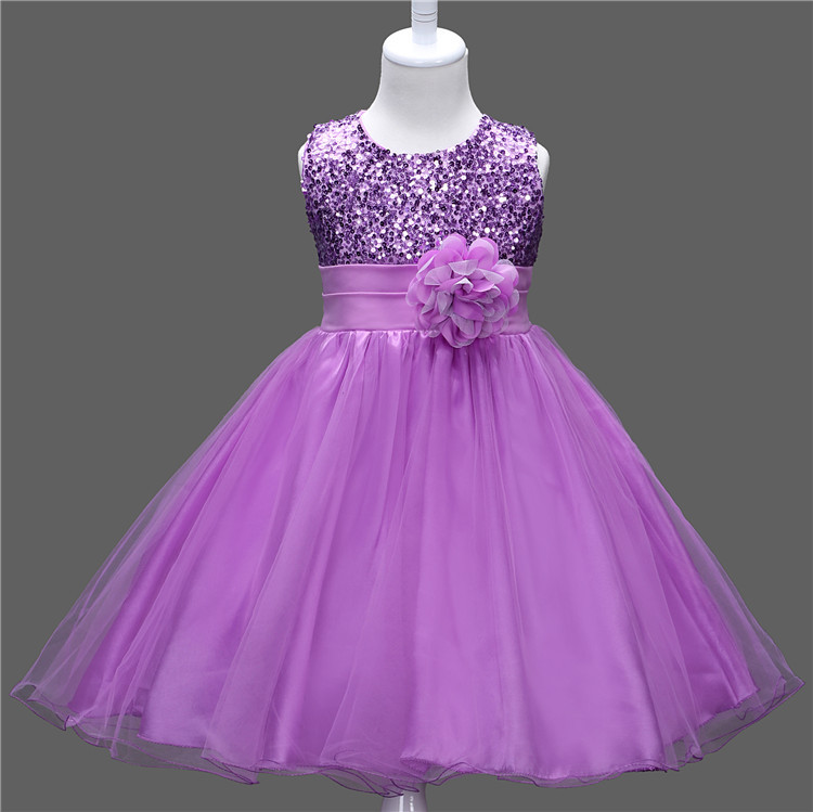 2017 Latest Fashion Kids Slim Young Girls Wear Long Party Dresses ...