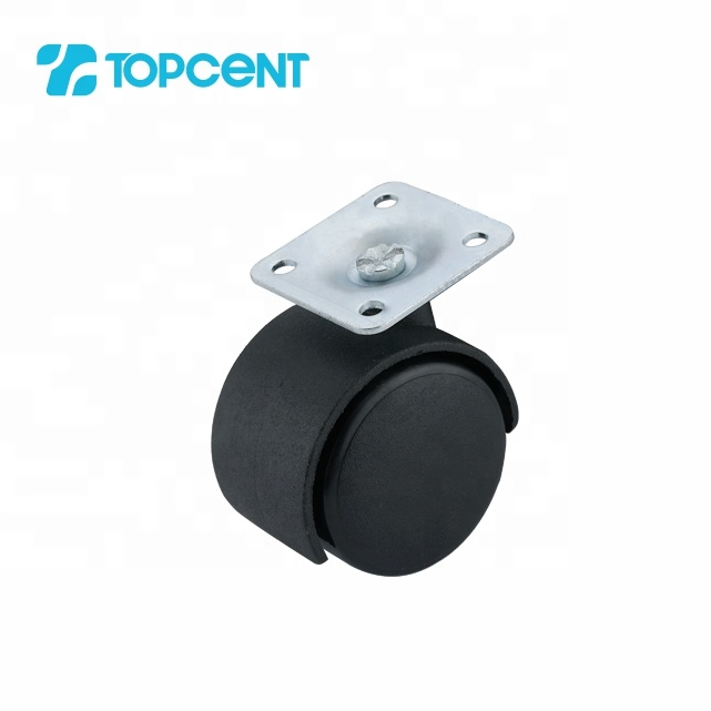 Topcent plastic nylon furniture cabinet office chair table desk wheel castors for furniture