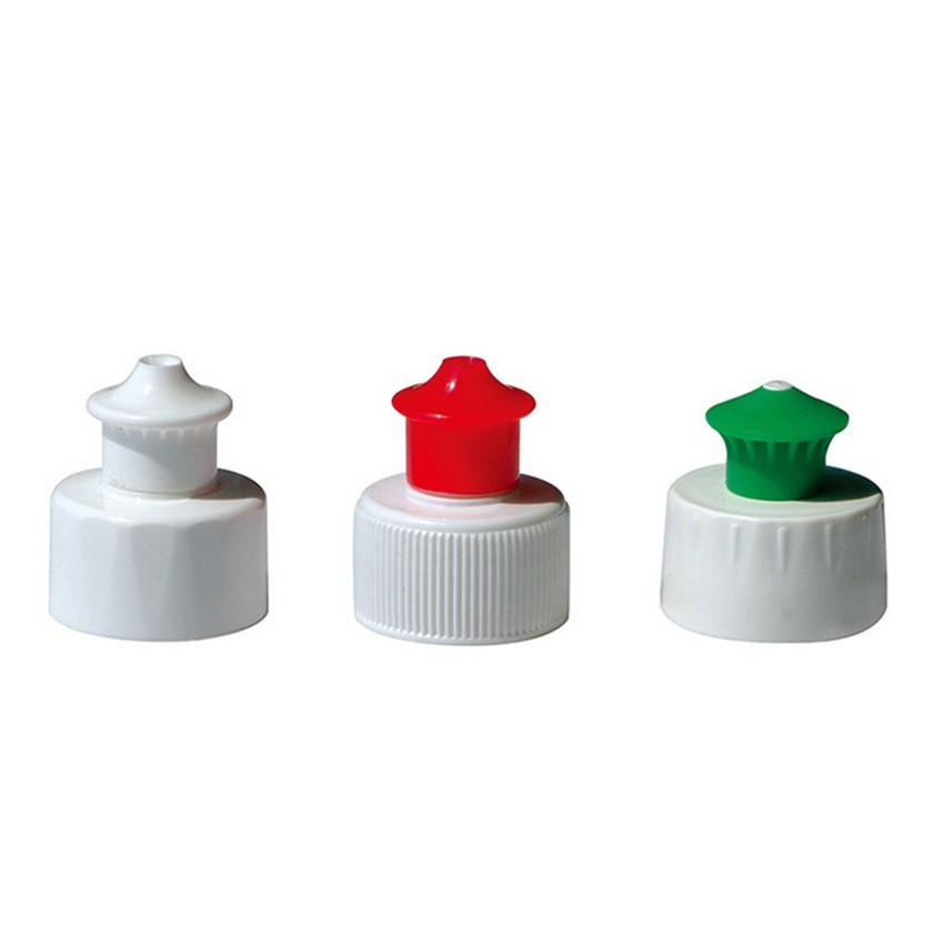 Hot Sale 28mm Push Pull Cap Plastic Bottle Cap For