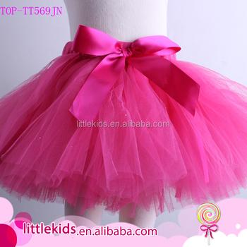 6fc807509 De alta calidad de tul Fluffy Ballet bebé Tutu falda de las niñas hechas a  mano