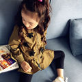 MS75230B Wholesale kids girls slim fit spring dust coats