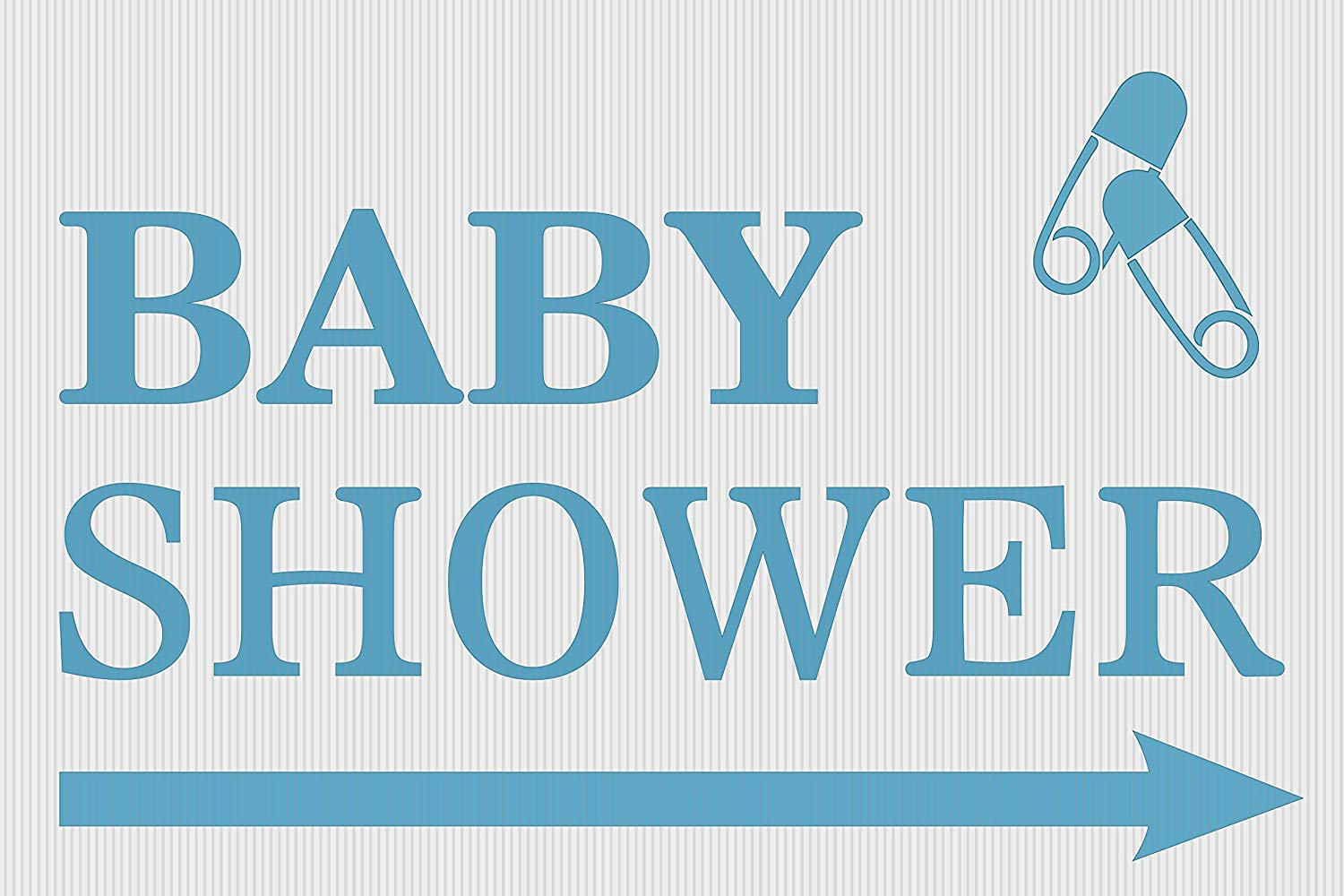 """BannerBuzz Custom Baby Shower Yard Sign with Metal Stakes, Non-Reflective UV Print Corrugated Plastic Sheets for Indoor & Outdoor Garden Signs (18"""" (H) X 24"""" (W))"""