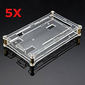 BephaMart 5Pcs Transparent Acrylic Shell Box For Arduino MEGA2560 R3 Module Board