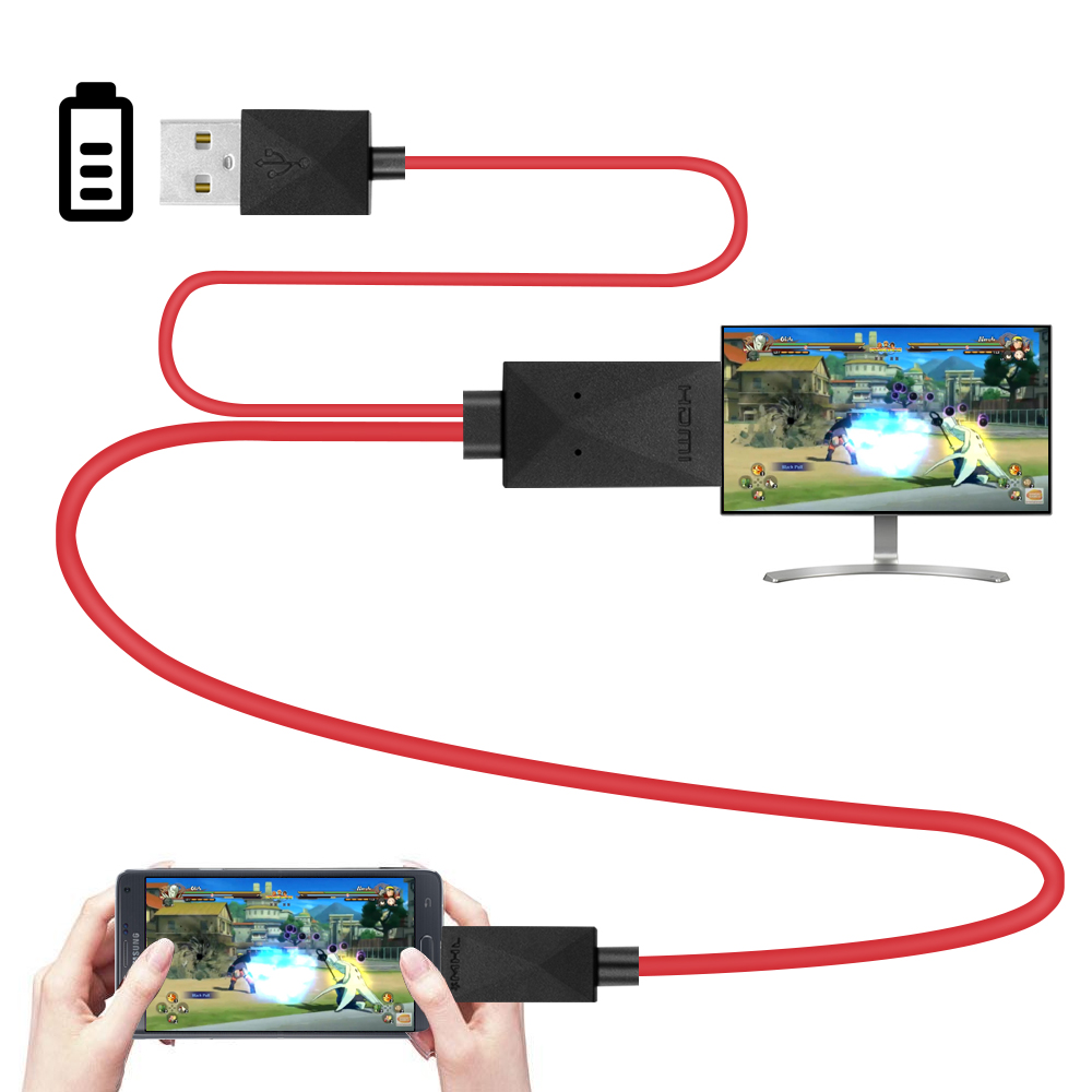 micro usb mhl to hdmi cable hdtv adapter converter for samsung galaxy s5 s4  s3 note