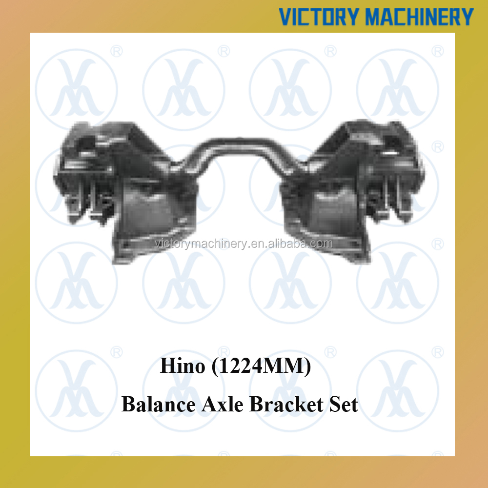 Japanese 1224MM Balance Axle Bracket Set For Hino Truck
