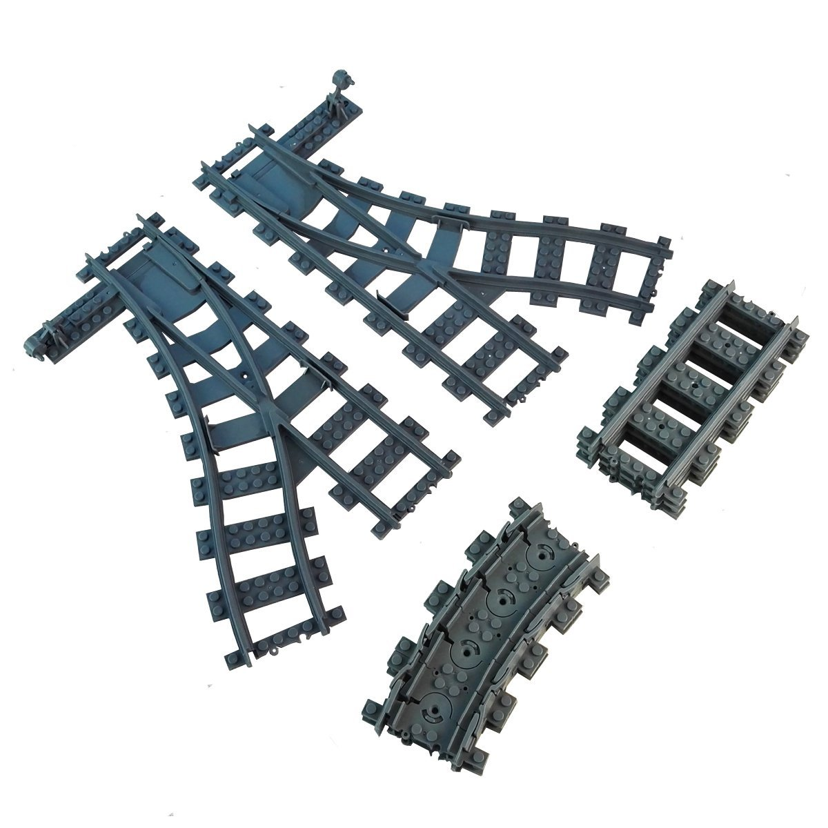 Cablemate Chair Rail Kit Part - 25: Get Quotations · 14X Railroad Train Tracks Switch Tracks Flexible Rail  Non-Powered Rail Compatible With Lego