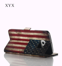 phone case 2016 OEM&ODM custom united states country flag printing pu leather flip back cover for iphone 6 6s case