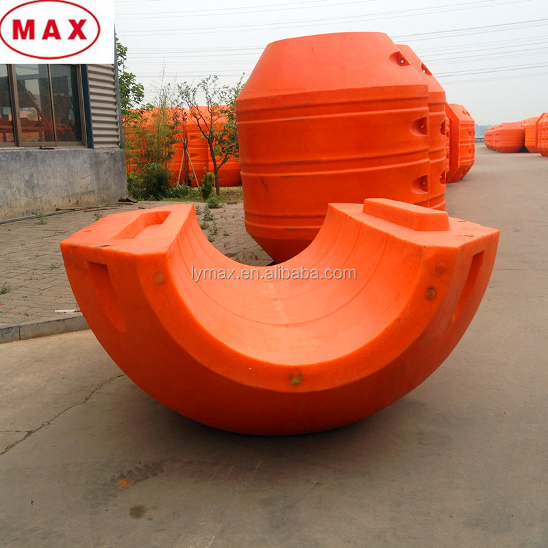Dredging HDPE floats with foam inside for dredging project