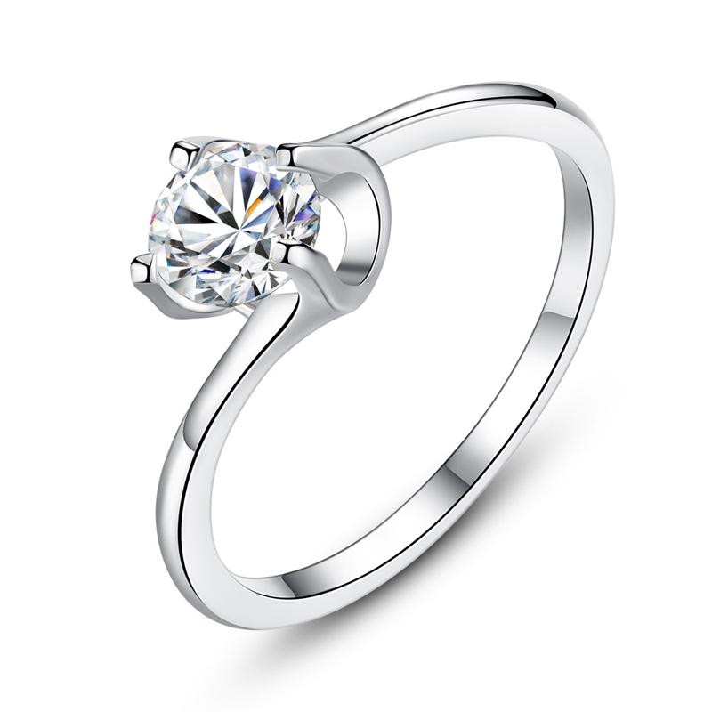 Wholesale shining ladies cheap diamond wedding rings R252 фото