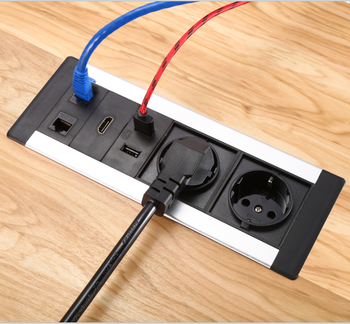 Multimedia Conference Table Socket Box Office Desk Surface Mount - Conference table power box