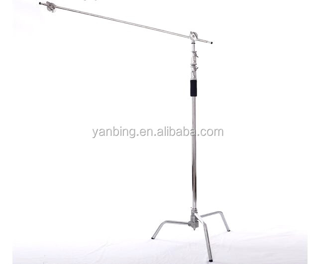 Photographic equipment C type magic studio light stand with boom arm stand
