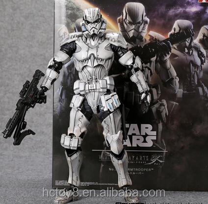 Gzltf Imperial Stormtrooper Solider Imperial Army Action Figure Play Arts Kai 27cm Collection Model DC PVC Figure