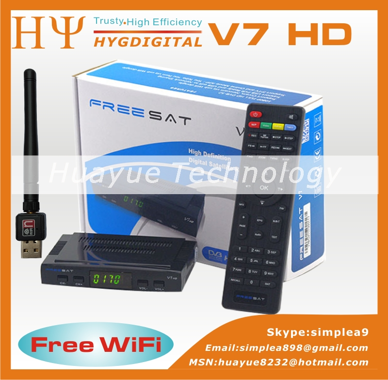 Cheap Freesat V7 DVB-S2 Free To Air Satellite Receiver Support PowerVu And