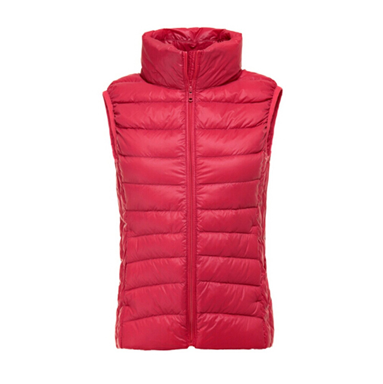 3718cfe2daf Get Quotations · Missrooney 90% White Duck Down Women Vest Winter Ultra  Light Duck Down Vest Sleeveless Jacket
