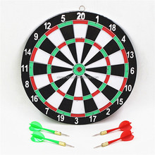 Indoor 12 inch sport double target dart magnetic flocking dartboard board double thickening
