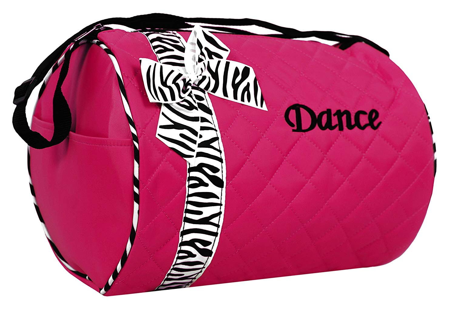 81d1aac4da70 Get Quotations · Dance bag - Quilted Zebra Duffle in Hot Pink