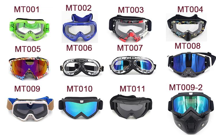 ที่กำหนดเองจักรยานสกปรกmotoแข่งป้องกันแว่นตาmxขี่รถจักรยานยนต์วิบากแว่นตา
