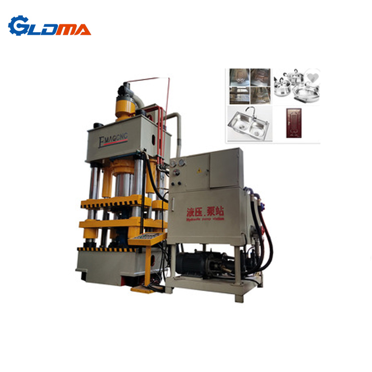 Export to India carbon steel deep drawing 100 ton hydraulic press price