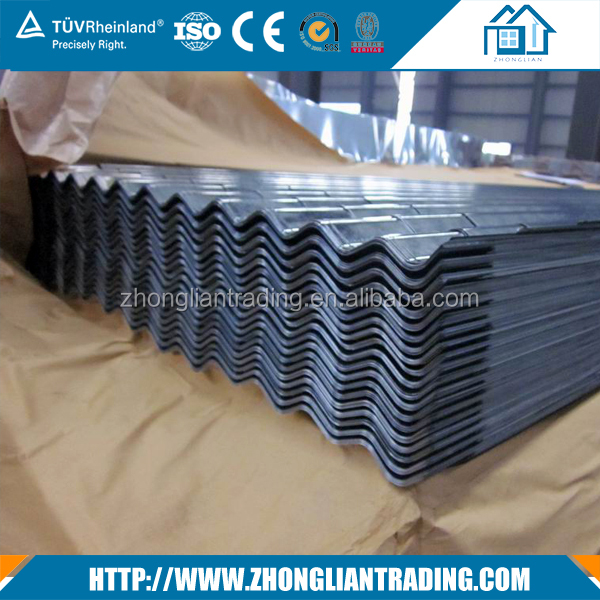 Cheap Price 0.18mm G 60 Aluzinc Ribbed Corrugated roofing steel sheet
