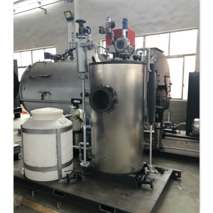 100Kg/h 72KW gas fired steam boiler for food processing machine