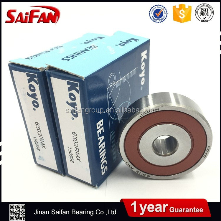 Japan Original KOYO Ball Bearing 6302 rmx Deep Groove Ball Bearing 6302 rmx Sizes 15*42*13mm
