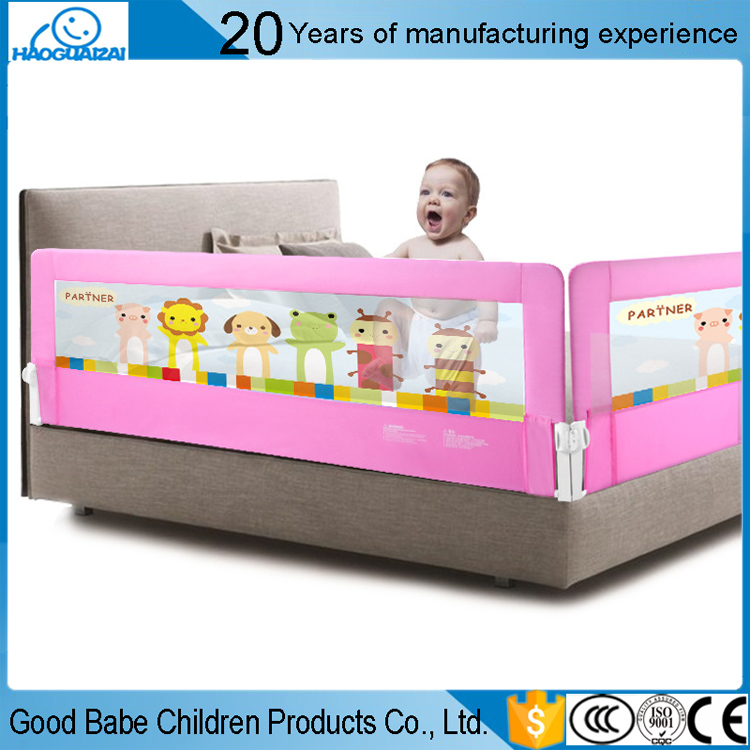 Economic and Efficient metal bunk bed rail kids safety bed guard