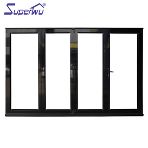 Aluminium alloy cost saving meet Florida code single glazing accordion doors with German brand hardware